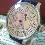 Omega Men Wristwatch Manual Winding Antique Silver Converted Pocket Watch 413/mn