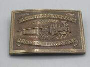 Original Antique Wells Fargo And Company Bankers And Forwarders Surveyor Dept Buckle