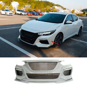 Fit For Nissan Sentra 2020-2022 Replacement Front Bumper Center Hood Grill Mesh