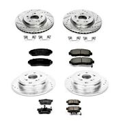 K229 Powerstop 4-wheel Set Brake Disc And Pad Kits Front And Rear New For Cr-v Rdx