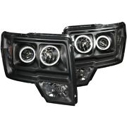 111161 Anzo Headlight Lamp Driver And Passenger Side New For F150 Truck Lh Rh Ford