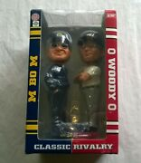 Bo Schembechler And Woody Hayes Bobbleheads In Box Michigan / Ohio State Football