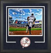 Aaron Judge New York Yankees Signed 16 X 20 Running Out Of Dugout Photo Frame
