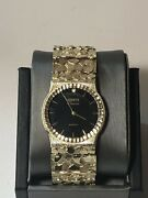 Geneve Classic 10k Gold Mens Nugget Watch
