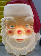 Vintage Empire Christmas Blow Mold Huge Santa Face 36andrdquo Holiday Decoration Works