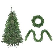 Northlight 32915593 Artificial Winter Spruce Christmas Tree Wreath And Garland Set