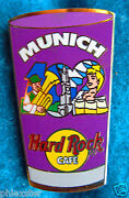Munich Pint Glass Series 102 Blonde Beer Server Girl And Tuba Hard Rock Cafe Pin
