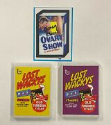 2005 Topps Wacky Packages Series 1 Rare Complete Set Ovary Show Original Seal