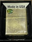 Zippo Seven Star Stone Wash Limited To 200 Pieces Gold Front Engraving Stars