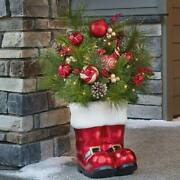 Christmas Santa Boot 36 Decoration 35 Led Lights Indoor Outdoor Ornaments New