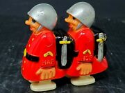 1950and039s-1960and039s Vintage Marx Hap Hop Twin Soldiers Ramp Walker Hong Kong See Video