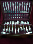 Jamestown Silverplate 73 Pc Dinner Set And Chest Holmes And Edwards Flatware 1916