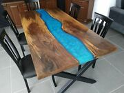 60 X 32 Epoxy Center Table Top Wood Table Custom Order Epoxy Resin Table