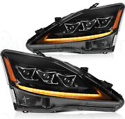 Headlights Fits Lexus Is250 2006-2012 Led/drl Headlamps Lh+rh Replacement Pair