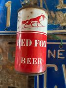 Red Fox Beer Norfolk. Flat Top Can Brewing Rough Shape Rare Brewery Steel Sign A