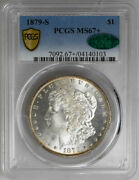 1879-s 1 Morgan Dollar Pcgs Ms76+ And Cac