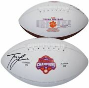 Trevor Lawrence Clemson Tigers Signed 2018 College Football Playoffs Football