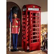 Af4353 -authentic Replica British Telephone Booth - W/72 Glass Widows