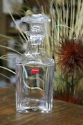 Vintage Baccarat Crystal Perfection Square Whiskey Decanter