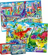 100 Pieces Floor Puzzles For Kids Ages 4-8 – 2 Jigsaw Toddler Puzzles 3-5 Yea...