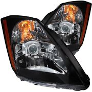 121108 Anzo Headlight Lamp Driver And Passenger Side New Lh Rh For Nissan 350z