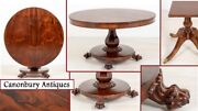 William Iv Centre Table Rosewood Round Dining