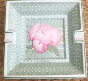 Hermes Ashtray Porcelain Cigar Tray Plate Dish Authentic 15x15cm S7g14