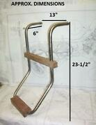 Boaters' Resale Shop Of Tx 2102 2142.04 Two Step Stainless And Teak Transom Ladder