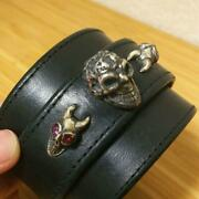 Bill Wall Leather Bwl Heart Buckle And 3 Skull Custom Leather Breath