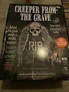 New Creeper From The Grave Tombstone Halloween Prop Decoration Animated
