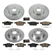 K6478 Powerstop Brake Disc And Pad Kits 4-wheel Set Front And Rear New For Escape
