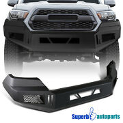 For 2016-2021 Toyota 16-21 Tacoma Front Bumper Cover Black Steel Pickup Assembly