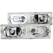 111006 Anzo Headlight Lamp Driver And Passenger Side New For Chevy Suburban Lh Rh