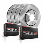Tdsk5747 Powerstop 4-wheel Set Brake Disc And Pad Kits Front And Rear New For Vw