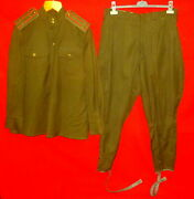 1960and039s Russian Soviet Army Colonel Uniform Wool Gimnasterka Tunic + Breeches