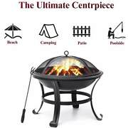 Outdoor 3 In 1 Bbq Grillbburning Fire Pit Garden Patio Barbecue Camping Party