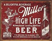 Miller High Life Bound To Please Rustic Tin Metal Sign 16 W X 12.5 H
