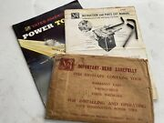 Vtg Owners Manual Yates-american Table Saw Jointer Sander Combination M-1701