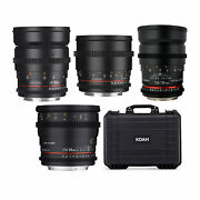 Rokinon Cine Ds T1.5 Cinema Lens Bundle For Canon Ef 24mm 35mm 50mm And 85mm