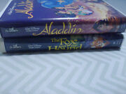 2 Black Diamond Vhs Movies Aladdin And The Fox And The Houndrare ,vintage