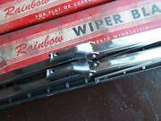 Pair Excellent Nos Trico Rb-12-2 Windshield Wiper Blade Dots With Black Tips