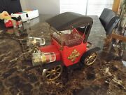 1970and039s Vintage Car Mini Bar Music Box W/ Decanter And Shot Glasses