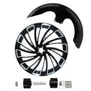 23and039and039 3.5and039and039 Front Fender Wheel Rim Dual Disc Hub Fit For Harley Road King 2008-21
