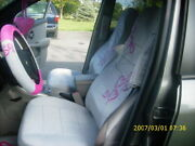 Suv Seat Covers Fits 2005-2009 Chevy Equinox With Pink Hearts Abf Velour Select