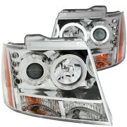 111108 Anzo Headlight Lamp Driver And Passenger Side New For Chevy Suburban Lh Rh
