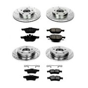 K121 Powerstop 4-wheel Set Brake Disc And Pad Kits Front And Rear New For Mazda 3