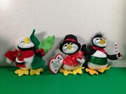 Annalee Christmas Lot Of 3 Christmas Themed Penguins