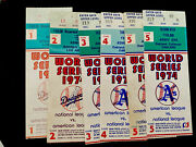 1974 World Series Ticket Stubs Game 1 2 3 4 5 + Total Six Tickets