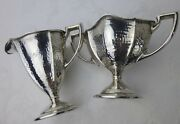 Saart Sterling Silver Hammered Cream Sugar Arts And Crafts Movement Antique