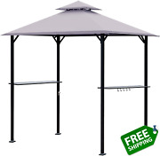 Easylee 8 X 5 Ft Grill Gazebo Outdoor Patio 2-tier Barbecue Canopy Shelter Bbq T